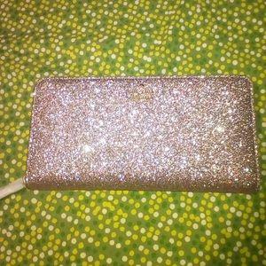 Kate spade glitter wallet